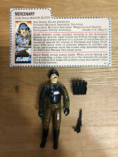 G.I. Joe - Major Bludd v1 - 1983 - 100% Complete - Red Back File Card