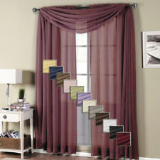 Elegant Crushed Sheer Curtain Panel with Traditions Rod Pocket (Single)