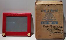Genuine 1960 Magic Etch A Sketch Screen Boxed