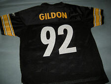 PITTSBURG STEELERS JASON GILDON FOOTBALL REEBOK JERSEY KIDS MEDIUM 5-6