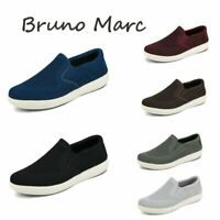Bruno Marc Men's Slip On Loafer shoes Breathable Knit Walking Sneakers Shoes