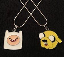 2pc Adventure Time Collana * Set * Fascino Ciondolo Catena Bambini Festa Jake & Finn