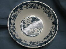REDUCED-Blue Willow Style English Village Serving Bowl-Japan-White w/Blue-EC