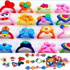 10x Wholesale Lots Jewelry Mixed Children Kids Polymer Clay Rings Free Shipping