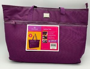 BRAND NEW - Protege Purple  Laptop Travel Tote Bag for Women