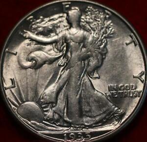 Uncirculated 1935-D Denver Mint Silver Walking Liberty Half