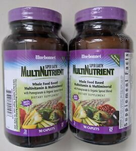 Bluebonnet Super Earth MultiNutrient Multivitamin Multimineral 90 x 2 180 Caplet