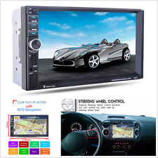 "7"" In-Dash 2 Din Car GPS Navigation Car Bluetooth Stereo FM Radio MP3 MP5 Player"