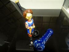 "Chuckie  w/ Knife Ceramic Tobacco Hand  Pipe + Free 4"" Glass Pipe   3005 +GP"
