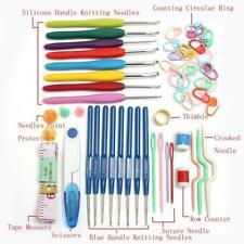 Crochet Hook Kit With 16 Sizes Ergonomic Hooks And Case Crocheting Needles Set