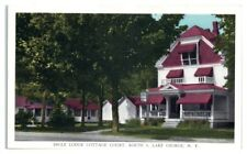 Ingle Lodge Cottage Court, Route 9, Lake George, NY Postcard