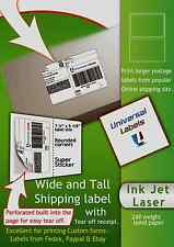 100 Xl Click Ship Labels With Tear Off Receipt Fits All Online Postage Usa
