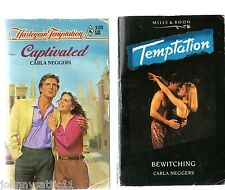 2 books Captivated & Bewitching by Carla Neggers Temptation Series (Paperback)