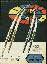 Publicité ancienne stylo Jif Waterman Panta 1950