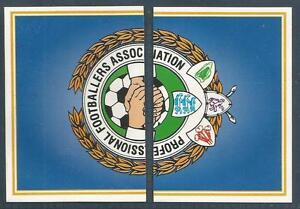 PANINI PFA FOOTBALL 97 #001 & #002-PFA BADGE
