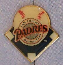 San Diego Padres on blue diamond lapel pin light scuffs marks c27778 MLB bb