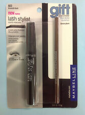 Maybelline Lash Stylist Mascara BROWNISH BLACK # 603 WITH BONUS EYELINER NEW.