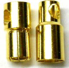 C0601 RC Connector 6mm Gold Plated Male and Female Bullet Banana x 1 Set