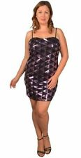 Polyester Hand-wash Only Geometric Plus Size Dresses for Women