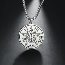 Supernatural Talisman Tetragrammaton Pentagram Pendant Wicca Pagan Necklace Gift