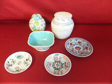LOT ANCIENNES PORCELAINES DE CHINES COUPELLES, POTS GINGEMBRE....