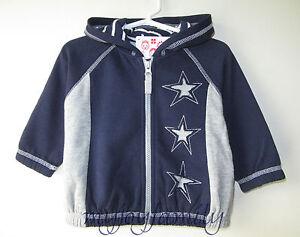 HANNA ANDERSSON Keep Me Cozy Hoodie Jacket Sweatshirt Navy Stars 70 9-18 mos NWT