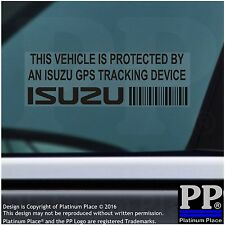 5 x ISUZU - Truck GPS Tracking Device Security BLACK Stickers-Van,Alarm Tracker