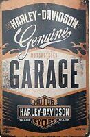 HARLEY DAVIDSON METAL TIN SIGN MOTORCYCLE GENUINE GARAGE WALL DECOR