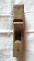 Vintage Primitive Smoothing Plane Small Carpentry Woodworking Handcrafted