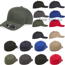 Flexfit  Adult Brushed Twill Fitted Cap Baseball Cotton/Spandex Hat - 6377