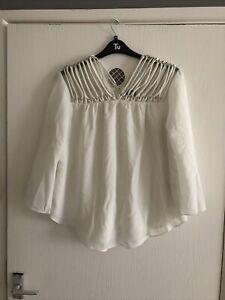 Ladies - Women's - Top Blouse Size 16 - Eur 44 - Ivory - Klass - Fabulous ❤️
