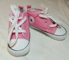Girls Baby Crib Shoes Pink Converse Size 4