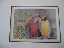 Nature Water Color Print-2 Parrots by Ruth Glenn Little