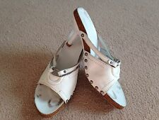 Diesel Style Lab white leather heeled sandals - size EU 37/UK 4