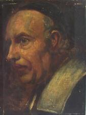 Portrait eines Priesters - antikes Ölgemälde 1893 - Monogramm