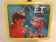 1982 E.T. Extra Terrestrial metal LUNCH BOX only , no thermos