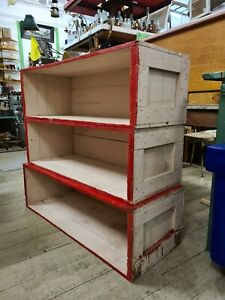 Vintage Rustic Timber Wooden Crates Shelves Bookcase painted