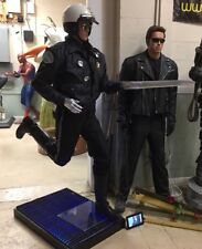 Life Size Terminator T-800 and T-1000 Arnold Schwarzenegger and Robert Patrick