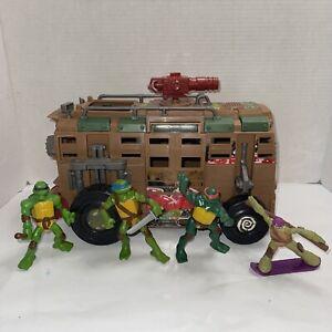 TMNT Ninja Turtles SHELLRAISER Van Vehicle 2012 Viacom Playmates Figures