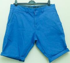 "Blend MENS COTTON BLUE TAILORED CASUAL STYLE SHORTS with TURNUPS w. 34"" - 36"""