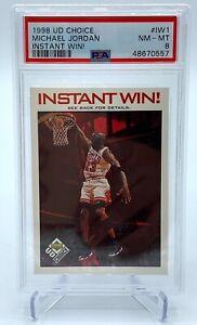 1998-99 UD Choice #IW1 Michael Jordan Instant Win! Chicago Bulls HOF PSA 8 NM-MT