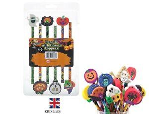 Halloween Pencil & Eraser Topper Stationary Kids Party Bag Filler Trick Treat UK