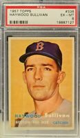 1957 Topps #336 - Haywood Sullivan - PSA 6 (EX-MT) - Set Break - Boston Red Sox