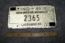 1980 Indiana Horse & Buggy License Plate Lagrange County Amish Country