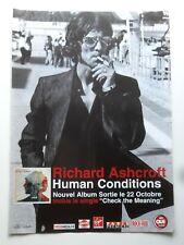Publicité advert tournée album concert RICHARD ASHCROFT 2002 Lp human conditions