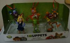 NEW Disney Muppets Christmas Ornament Figures 6 pc Set  Fozzie Bear, Animal