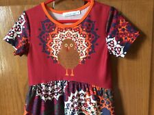 "Beautiful Colorful Turkey Dress ""Sunshine Swing� Size 3T"