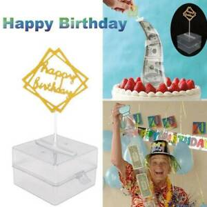 Birthday Cake Props Money Box Tricky Toy with 20 Bags Surprise Making Toy Funny