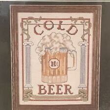 Sign of The Times Counted Cross Stitch Kit 04056 Cold Beer