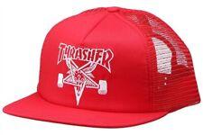 Thrasher Magazine EMBROIDERED SKATE GOAT Skateboard Trucker Hat RED